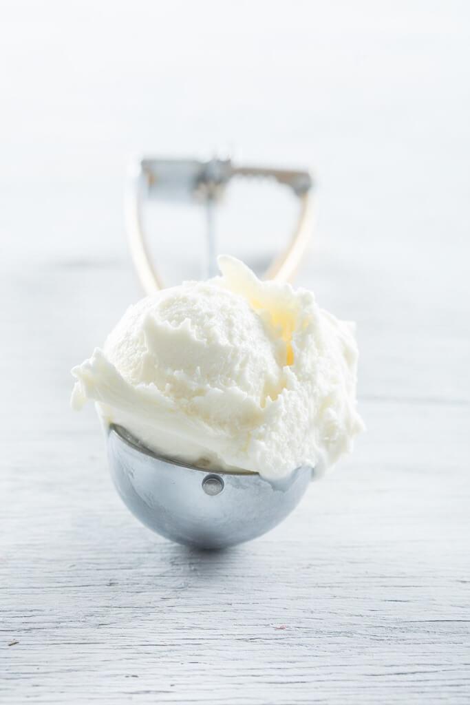 Witte chocolade ijs